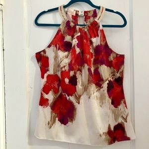Like-New Tahari Sleeveless Painterly Top